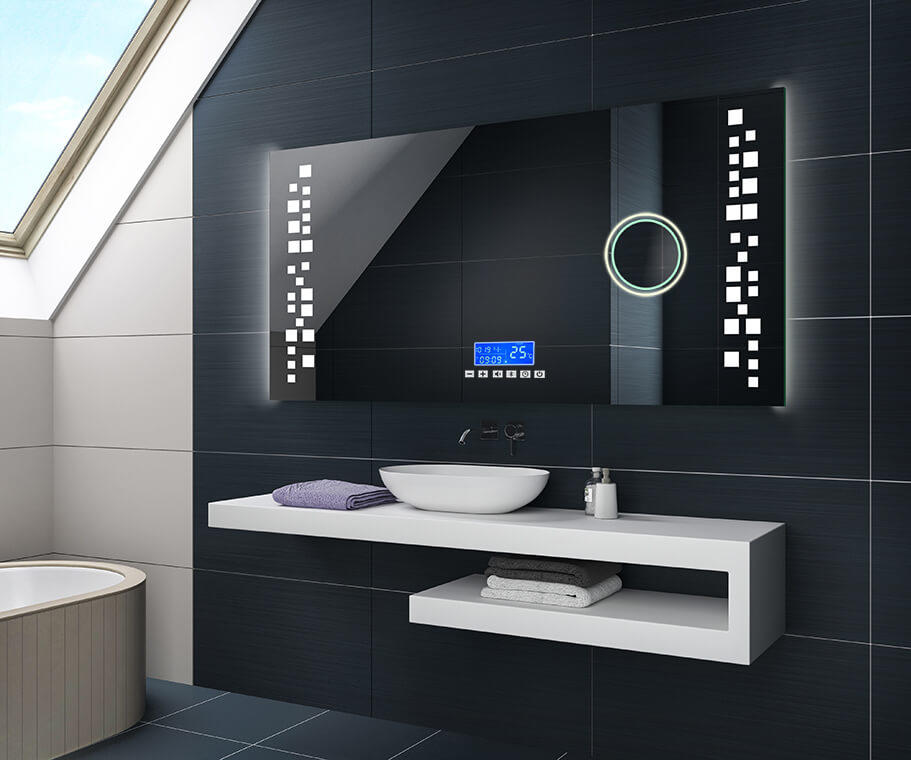 illumination led miroir sur mesure eclairage salle de bain l38 artforma miroirs 3d led. Black Bedroom Furniture Sets. Home Design Ideas